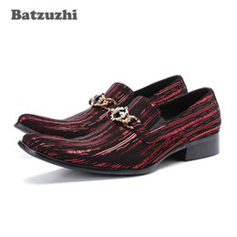 Wholesale types dress shoes for sale – halloween Batzuzhi Personality Men Shoes Japanese Type Fashion Formal Leather Dress Shoes Men zapatos de hombre Party Footwear Pluz Size