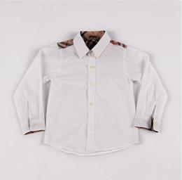 Long Collar Shirts For Girl Australia - 2019 Fashion girls boys shirt kids lapel long sleeve casual tops children shirt kids designer clothes for 90cm-130cm Free shipping