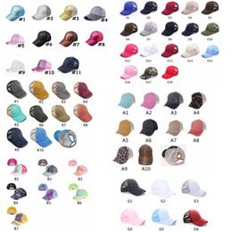 Washed Ponytail Baseball Cap Messy Buns Hats Washed Cotton Unisex Visor Cap Hat Outdoor Snapbacks Caps GGA3506 on Sale