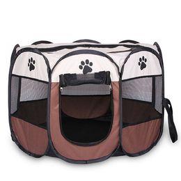 $enCountryForm.capitalKeyWord Australia - Portable Folding Pet tent Dog House Cage Dog Cat Tent Playpen Puppy Kennel Easy Operation Octagon Fence