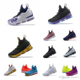 $enCountryForm.capitalKeyWord Australia - What the lebron 15 mens basketball shoes for sale Floral Purple Blue Orange youth kids lebrons 16 outdoor sneakers tennis with box size 7 12