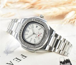 $enCountryForm.capitalKeyWord Australia - Fashion Rhinestone Diamond inlay Clock dial Quartz Watches Famous Women Drill ring dial Stainless Steel Watches Free Shipping 11