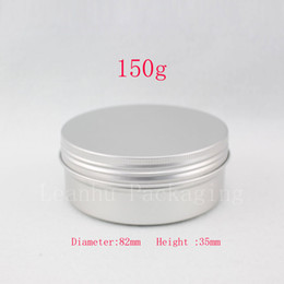 green tea bottles Australia - 150g food green tea aluminum jar container with screw lid , cosmetics metal bottle for cream   ointment   storage ,20pc lot