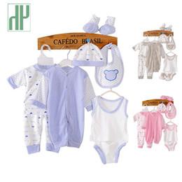 $enCountryForm.capitalKeyWord NZ - 8pcs set Suits For Babies Clothing Tracksuit Newborn Baby Infant Underwear Boy Clothes Unisex Suit New Born Girl Clothes Sets Y19050801