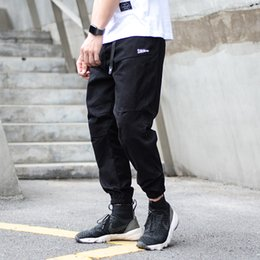 jeans cargo Australia - Fashion Streetwear Men Jeans Khaki Loose Fit Slack Bottom Cargo Pants Men Harem Trousers Japanese Style Hip Hop Joggers Pants