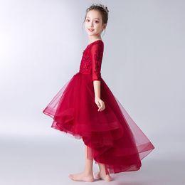 $enCountryForm.capitalKeyWord UK - Princess bitter fleabane bitter fleabane yarn shows children dress small host costumes flower girls dress skirt