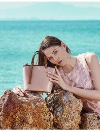 $enCountryForm.capitalKeyWord Australia - 1108Fashionable leather bucket bag for ladies, high-end pure color, simple and versatile single-shoulder cross-body bag