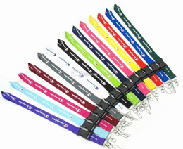 $enCountryForm.capitalKeyWord Canada - Wholesale 10pcs New Sport Blue Red Yellow Black Clothing Brand Neck Strap For Cell Phone Keychain Straps Colors Clasp Fit Key Chain Id Card