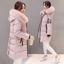 Wholesale army jacket female for sale – winter Parka Women Winter Coats Long Cotton Casual Fur Hooded Jackets Women Thick Warm Winter Parkas Female Overcoat Coat MLD1268 T190829