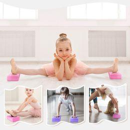 Block Bricks Australia - Children Yoga Block EVA Foam High Density Yoga Brick for Beginner Dance Adult Home Sports Stretching Aid Exercise Fitness Blocks