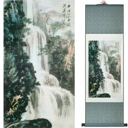 Chinese Landscape Oil Paint NZ - Landscape Art Painting Super Quality Traditional Chinese Art Painting Home Office Decoration1906101719