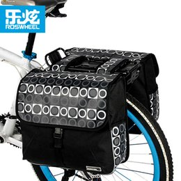 roswheel bike bags Australia - bike luggage ROSWHEEL Bicycle Carrier Bag 28L Rear Rack Trunk Bike Luggage Back Seat Pannier Two Double Bags Cycling Saddle Storage 14600