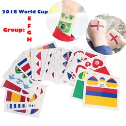 Wholesale 10Pcs Russia World Cup States National Flag Stickers cm Waterproof Temporary Tattoo Sticker Body Face Paint