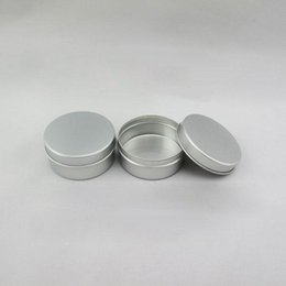 Cream ointment paCkaging online shopping - 40g Empty Aluminum Jars Refillable Cosmetic Bottle Ointment Cream Sample Packaging Containers Straight Cap