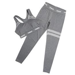 Fitness Clothing For Women UK - 2Pcs Fitness Yoga Set Seamless Leggings + Bra Sports Wear for Women Gym Suit Clothing Yoga Leggings Set Running Sportswear Women