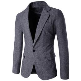 $enCountryForm.capitalKeyWord Australia - FREE OSTRICH New Arrival Men's Jacket Casual Pure Color Single Button Long Sleeve Suit Jacket Coat blazer men jackets and coats