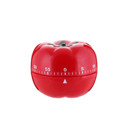 Wholesale Mechanical Timer Cooking timer ABS Tomato Shape Timers For Home Kitchen Minutes Alarm Countdown Tool