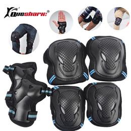 Ice Skating Gifts Australia - 6pcs set Skating Protective Gear Set Elbow pads Wrist Support Ski Skateboard Ice Skate Roller Knee Brace For Adult Kids Gift #248862