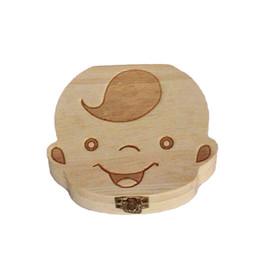 $enCountryForm.capitalKeyWord Australia - New English Wooden Baby Tooth Box Organizer Milk Tooth Storage Box For Boy Girl Save Teeth Umbilical Cord