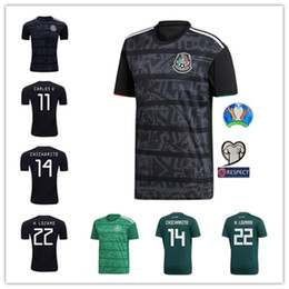 2xl soccer jerseys 2019 - Mexico 2019 2020 H.LOZANO H.HERRERA R.MARQUEZ CHICHARITO A.GUARDADO Soccer Jersey 19 20 national team football shirt S-2