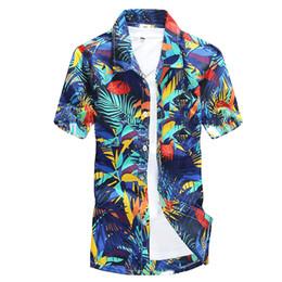 e0b331e92 HEFLASHOR Plus size 5XL Summer Style Tree Print Beach Shirt Mens Camisa  Masculina Floral Printed Short Sleeve Hawaiian Shirts