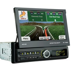 mp5 gps 2019 - HEVXM 7066G The 7 inch Screen can motorized pop up or pull back Touch Screen Car Navigation MP5 player FM radio mp3 play