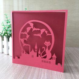 $enCountryForm.capitalKeyWord Australia - 35PCS  lot Hollow Wedding Invitations Card Batman and catwoman Love Unique Design Valentine Party Invitations Supplies