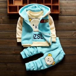 $enCountryForm.capitalKeyWord NZ - good quality autumn winter baby girls clothes sets 3pcs cartoon bear suits fashion hooded outerwear warm hoodies tracksuit clothing