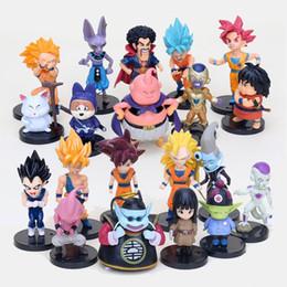 Buu Figure Australia - 20pcs set Dragon Ball Z Super Saiyan Son Goku Vegeta Buu Freeza Beerus PVC Action Figures Model Toy In Bag