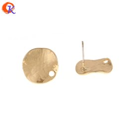 studs 15mm NZ - wholesale 50Pcs 15*15MM Jewelry Accessories Earrings Stud Round Shape Earrings Jewelry Parts DIY Hand Made Earring Findings