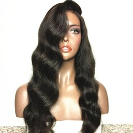 $enCountryForm.capitalKeyWord Australia - Hand-made Malaysian human lace front human hair wigs virgin hair full lace hair wigs new style water wave can be dyed