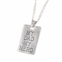 Fathers Day Gifts For Dad NZ - 2019 Hot Sale Father's Day Gift My Dad My Hero Letter Combine Necklace For Dad Pendeloque Alloy Necklace Pendant For Father