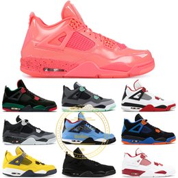 Wholesale 4 Men Basketball Shoes Hot Punch Lightning Tattoo Fear Pack Fire Red Motor Sports Oreo S Athletic Designer Sports Sneakers US
