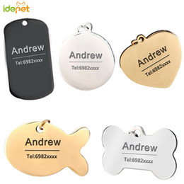 dog collars name tags UK - Customized Pet Dog Cat Tags Collar Leashes Engraving Pet Dog ID Tag Collars Engraved Tag Accessories Custom-made ID Name 35