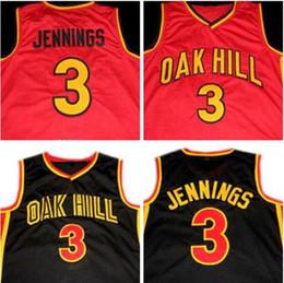 School Basketball Jerseys Australia - Mens Bran don JENNINGS #3 Oak Hill High School Jersey 100% Stitched Bran don JENNINGS NCAA Basketball Jersey Red Black Free Shipping S-XXXL
