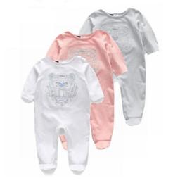 $enCountryForm.capitalKeyWord Australia - Spring Autumn Designer label Baby Romper Cotton Tiger Baby Girl Clothes Cartoon Toddler Baby Boy Jumpsuit Embroidery Clothes
