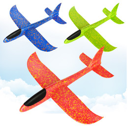 $enCountryForm.capitalKeyWord NZ - 48cm Foam Throwing Glider Air Plane Inertia Aircraft Toy Hand Launch Airplane Model Outdoor Sports Flying Toy for Kids Gift
