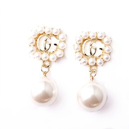 Wholesale Fashion Jewelry S925 silver needle female pearl Drop Earrings Clothing brand designer earrings