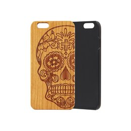 Cell Phone Cases For Cheap NZ - Wholesale Cheap Price Black Fashion Wood PC Cell Phone Case For iPhone 5 6 7 8 Plus X XS