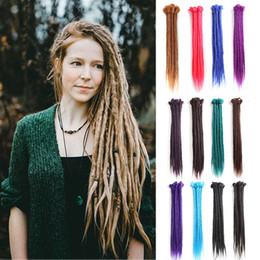 $enCountryForm.capitalKeyWord Australia - 5Pcs 20inch 100% Handmade Dreadlocks Extensions Fashion Reggae Hair Hip-Hop Style Soft faux locs Crochet Braiding Hair For Women Men