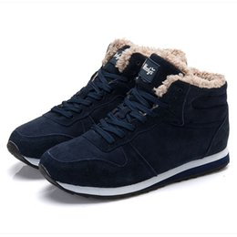 $enCountryForm.capitalKeyWord NZ - Women Boots Warm Winter Shoes Woman Snow Boots Fashion Flock Lace Up Winter Botas For Women Ankle Boots Plus Size 35-45 Booties
