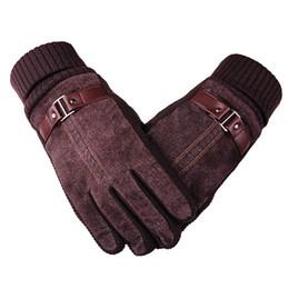 $enCountryForm.capitalKeyWord Australia - DEER Story Winter Slip Thermal Warm Leather Long Gloves Men Or Women Driving Black Genuine Leather Gloves Touch Screen Mittens