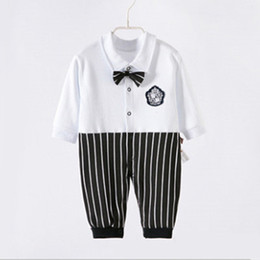 $enCountryForm.capitalKeyWord Australia - Autumn Spring Wear Long Sleeve Cotton Clothing Jumpsuits Hot Baby Boy Girl Climb Clothes Bowknot Figure Kids Romper One-Piece