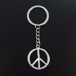 $enCountryForm.capitalKeyWord Australia - Fashion Keychain 34x30mm peace symbol Pendants DIY Men Jewelry Car Key Chain Ring Holder Souvenir For Gift