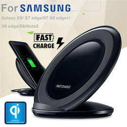 Wholesale New original Qi Wireless Fast Charger Stand Pad For Samsung Galaxy Note9 S9 S8 S7 iphone X mobile Convertible Pad with package