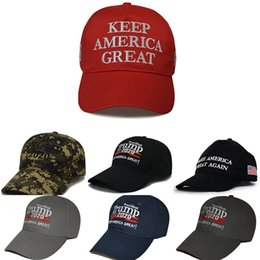 star domes NZ - Camouflage Donald Trump Hat Usa Flag Baseball Cap Keep America Great 2020 Hat 3D Embroidery Star Letter Camo Adjustable Snapback Ffa1850 #791