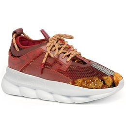 Chain tennis online shopping - 2019 Chain Reaction Casual Designer Sneakers Sports Fashion Casual Shoes Trainer Lightweight Link Embossed Sole Size