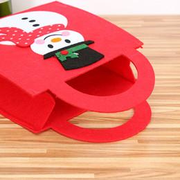 $enCountryForm.capitalKeyWord NZ - 1pcs ChristmasTote Non-woven Bag Christmas Mini Storage Bag Candy Cloth Elk Snowman Santa Claus Kid Gift Handbag Decoration