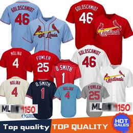 Discount paul goldschmidt jersey - 46 Paul Goldschmidt St. Louis Cardinals Baseball Jersey 1 Ozzie Smith 4 Yadier Molina 25 Dexter Fowler Jerseys 100% Stit