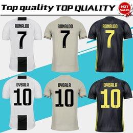 f0b00e15d237 Juventus home Soccer Jersey 18 19#7 RONALDO away Soccer Shirt #10 DYBALA  MANDZUKIC PJANIC KHEDIRA third football uniform Sales size S-4XL